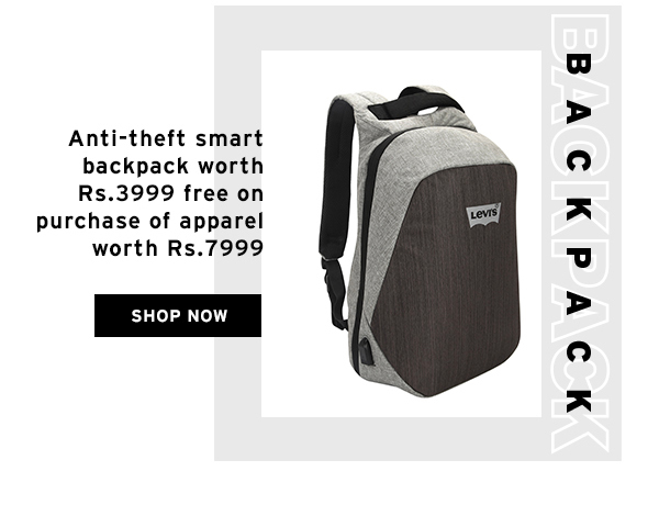 Free Anti-Theft Backpack worth Rs.3999 with Purchase