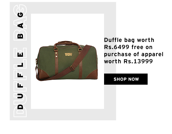 Free Duffle Bag worth Rs.6499 with Purchase