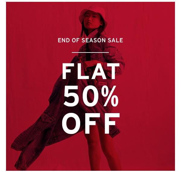 End Of Season Sale Flat 50% Off.